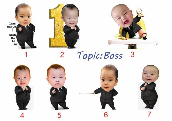 mẫu chibi boss baby cho bé trai