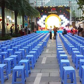 Cho thuê ghế nhựa xanh