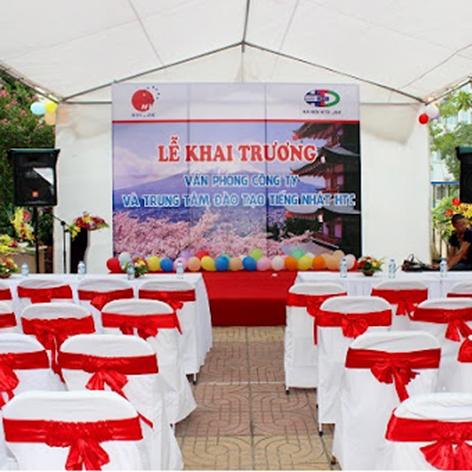 Hình ảnh cho thuê bàn ghế sự kiện ngày khai trương